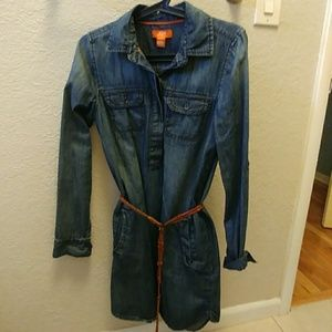 Jean shirt dress (belt not included)